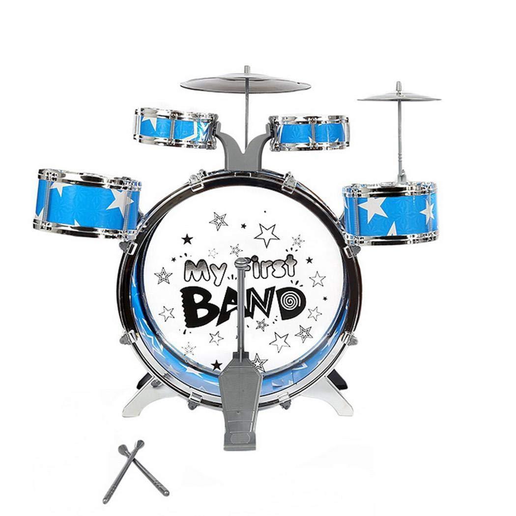 uuingh Set di Tamburi di Simulazione per Bambini Combattimento di Giocattoli Musicali Jazz Tamburi e percussioni