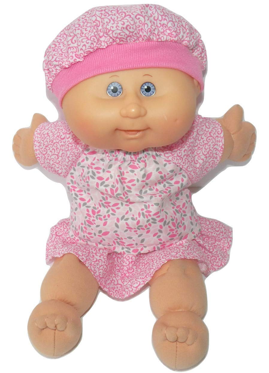 Cabbage Patch Doll Clothes 14 Inch Girl or Preemie Summer Pink Skirt Blouse Hat No Doll