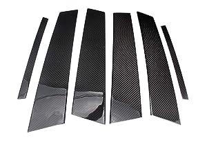 Eppar New Carbon Fiber B Pillar Stickers for ALFA Romeo Giulia 2016-2019 (One Set)