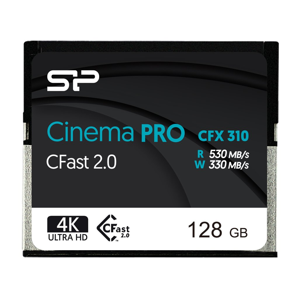 Silicon Power 128GB CFast2.0 CinemaPro CFX310 Memory Card, 3500X and up to 530MB/s Read, MLC, for Blackmagic URSA MINI, Canon XC10/1D X MARK II and more
