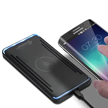 Cargador Inalámbrico Móvil, Despert Ultra-Slim Rápido de Inducción QI Wireless Charger para Samsung Galaxy S6/Edge /Edge+/Plus/ Note 5 Nexus ...