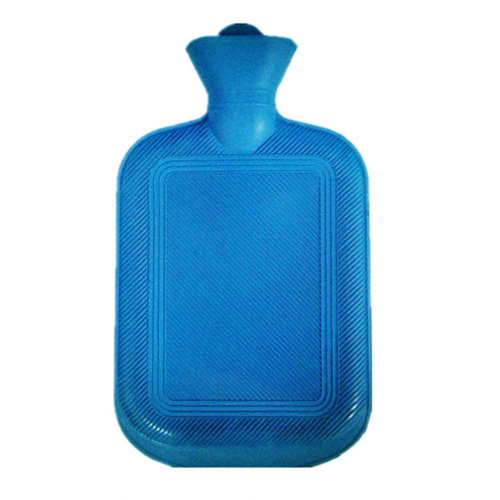 Sac d'eau chaude classique en caoutchouc de première qualité, bouteilles d'eau pour réchauffer les mains en hiver, idéal pour le soulagement de la douleur, la thérapie par le chaud et le froid (blue/S) STRUGGGE