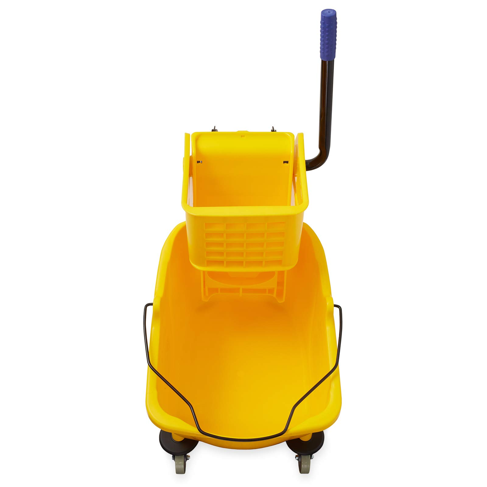 Dryser Commercial Mop Bucket with Side Press Wringer, 33 Quart, Yellow by Dryser (Image #3)