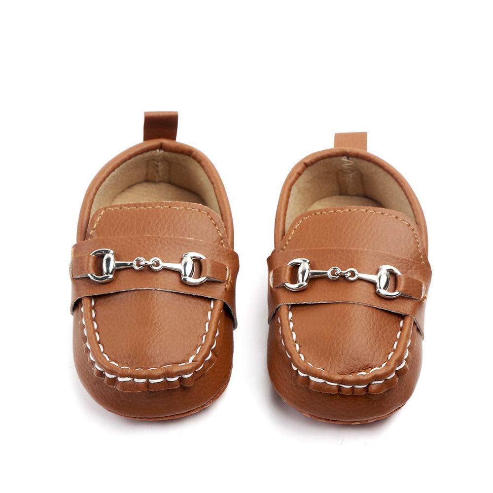 0-6 Months, Coffee Lidiano Baby Nubuck Vamp Soft Sole Toddler Loafers Boat Shoes Crib Shoes