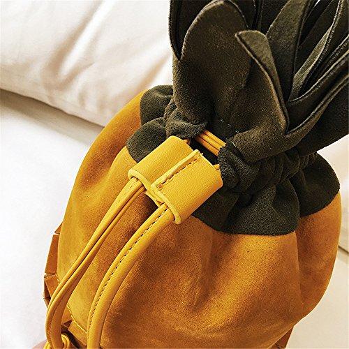 Sac Carré Rrock Bandoulière Sac Sac Créative La Femme Couleur Bicolore Diagonale Seau Yellow Sac Contraste Mode Ananas De Forme Sac À Femme Sac Sac d'embrayage qqaWAT