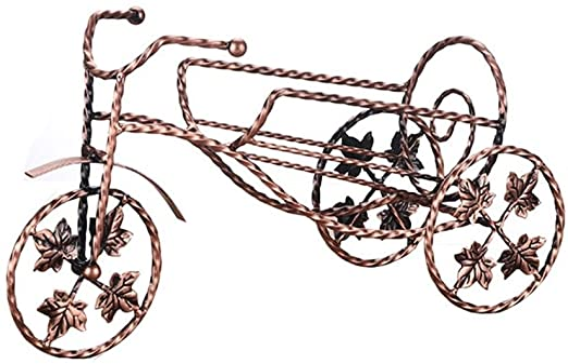 SUNBOR Botellero De Vino Metal Bicicleta Hojas de uva Artesanía ...