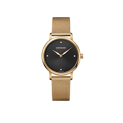 Strap Wenger Stainless Watch Steel Quartz Unisex With Analogue xhdsQBtrC