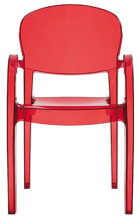 UP ON N ° 4 sillones Joker de policarbonato Transparente ...