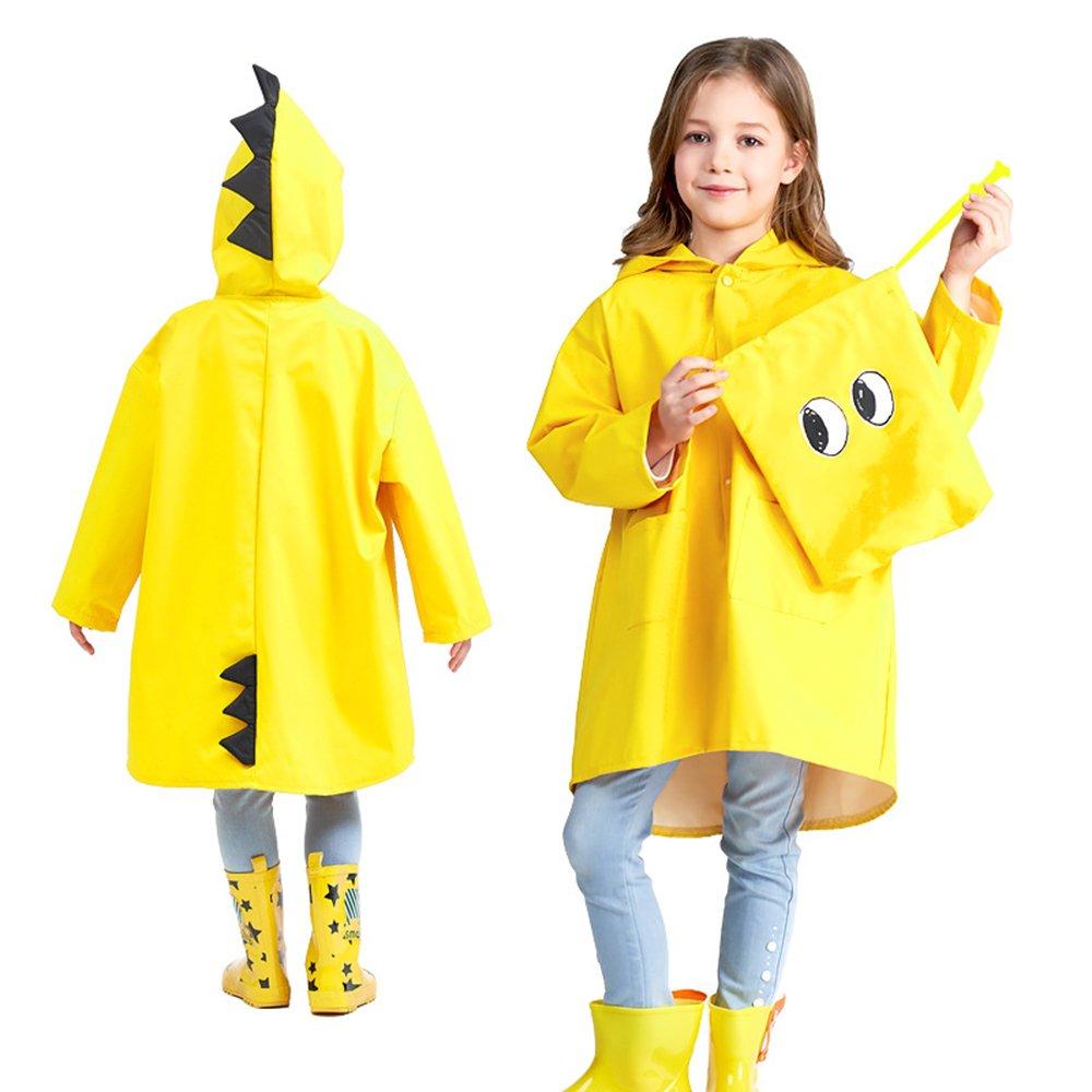 Aubess Cute Angel-Dinosaur pour Enfant Polyester imperm/éable l/éger ext/érieur Dessin anim/é Manteau de Pluie pour gar/çons ou Filles
