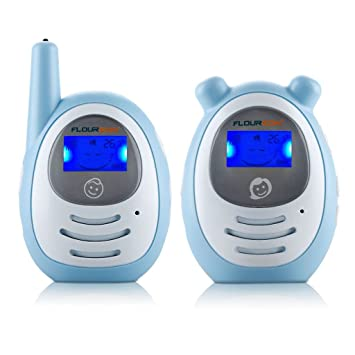 FLOUREON BM156 2.4GHz Wireless Sound Activated Digital Audio Baby Monitor with 1 Parent Unit-