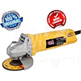 TOOLSDEN DW801 Heavy Duty 850W 11000Rpm 100Mm Angle Grinder with Free Bosch Grinding and Cutting Wheel, Yellow