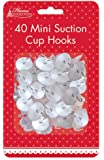 The Home Fusion Company 40 x Mini Suction Cups Ideal Christmas Decoration Lights Hanging Window Display