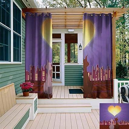 Amazon.com: Cortina de ventana con ojales para exteriores ...