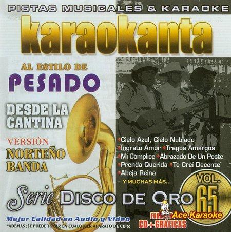 Karaokanta KAR-1765 Disco de Oro - Desde la cantina - 1 Banda Spanish CDG