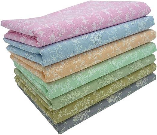 7 piezas 50cm * 50cm rosa tela de algodón estampado,telas para ...