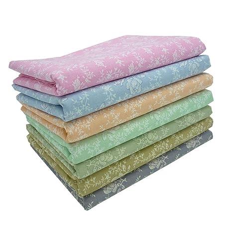 7 piezas 50cm * 50cm rosa tela de algodón estampado,telas para hacer patchwork,