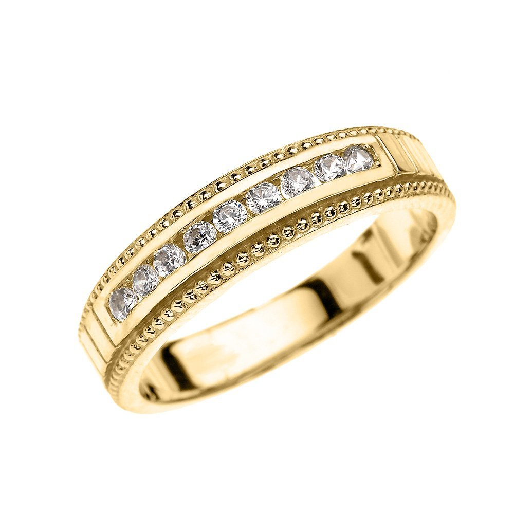 14k Yellow Gold Diamond Wedding Band Ring For Him (Size 15) by Wedding Bands by FDJ