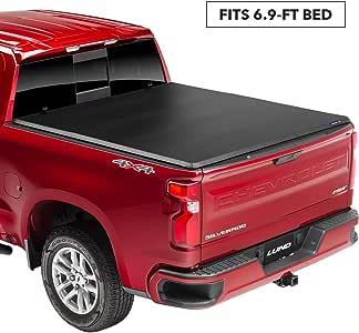 "Lund Genesis Tri-Fold Soft Folding Truck Bed Tonneau Cover | 95050 | Fits 2017 - 2019 Ford Super Duty 6' 9"" Bed"