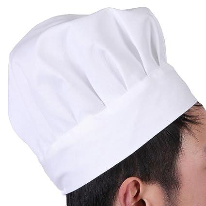 476615b657a8d Chytaii Sombrero Cocinero Gorro de Cocinero Estilo Seta Sombrero de Hotel  Ajustable Gorro para Trabajo Bricolaje Gorro para Niños Blanco  Amazon.es   Hogar