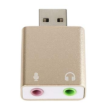 Socialism Tarjeta de Sonido de Audio USB Externa USB a ...