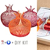 Wire Crochet Kit - Home Decor Ideas - Pomegranate DIY Kit - Home Gifts DIY - How to Crochet with Wire - Housewarming Gift