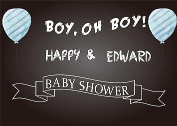 Amazoncom Laeacco 5x3ft Baby Shower Backdrop Boy Oh Boy Happy And