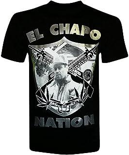 981b5d4896e Amazon.com  El Chapo Guzman Y Kate Del Castillo Men s T-Shirt  Clothing