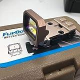 Flip Red Dot Reflexvisier Hochklappbares taktisches Reflexvisier mit Punktmuster f/ür MOS-Glock-Halterungen und Objekttr/äger wurden f/ür die Aufnahme von RMR bearbeitet