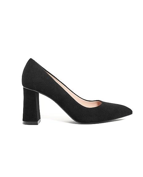 Uterque Zapatos Vestir de Negro Piel para de Mujer Negro If7gyvYb6