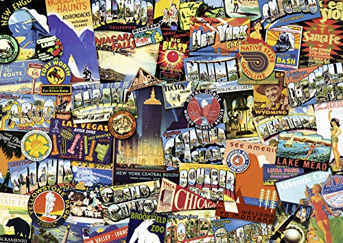 - Ravensburger Road Trip USA 1000 Piece Jigsaw Puzzle for Adults - Every Piece is Unique, Softclick Technology Means Pieces Fit Together Perfectly