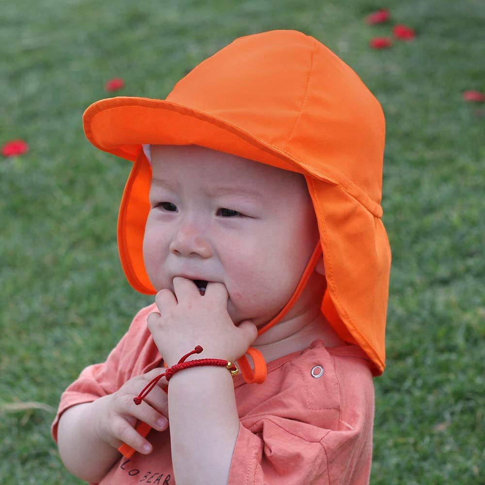 6 Months-5 Age Foldable Beach Travel Flap Hat with Adjustable Straps Quick Dry Sunhat for Girls Boys Baby Toddler iClosam Kids Sun Hat UPF 50