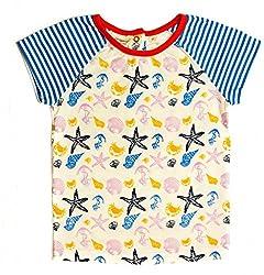 Origany Little Girls' Nautical Gathered Dolman Top 4T Blue
