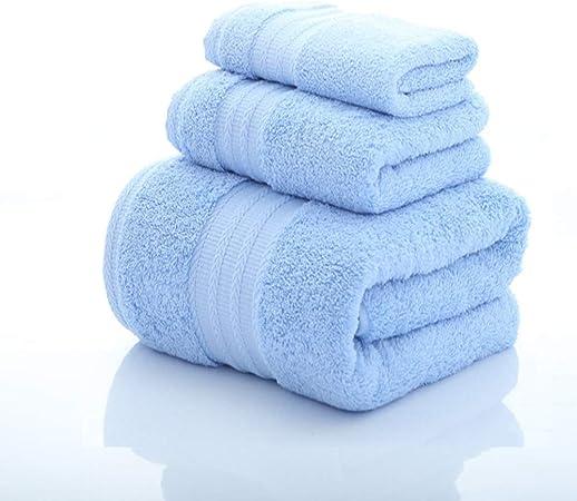 Toallas de baño, Juego de Toallas de algodón Egipcio, baño Super Suave Absorbente 1 Toalla de baño y 2 Toallas de Mano (35 * 78 cm, 71 * 145 cm) (Color : Azul): Amazon.es: Hogar