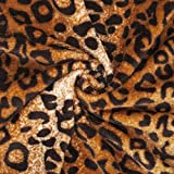 Neotrims Lepoard Animal Print Fur Fabric, Light Soft Pile for Crafts & Accessories, Throws, Blankets, 6 Beautiful colours at a Great Price! Earthy Colours. Two Sided Fur.