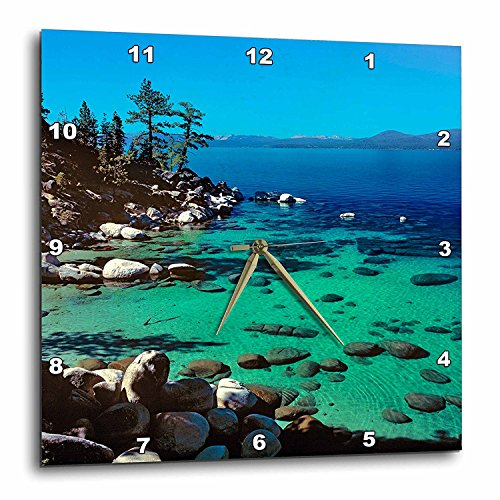 3dRose DPP_92271_3 Nevada, Lake Tahoe Highway 28 - US29 RER0011 - RIC Ergenbright - Wall Clock, 15 by 15-Inch
