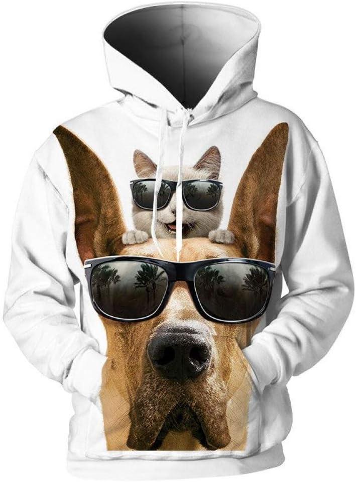 PU Frühling und Herbst Männlich 3D Sweatshirts 3D Print Kapuzenpullover Herren Lustige Sweatshirts Herren Coole 3D Pullover Trainingsanzüge,M S