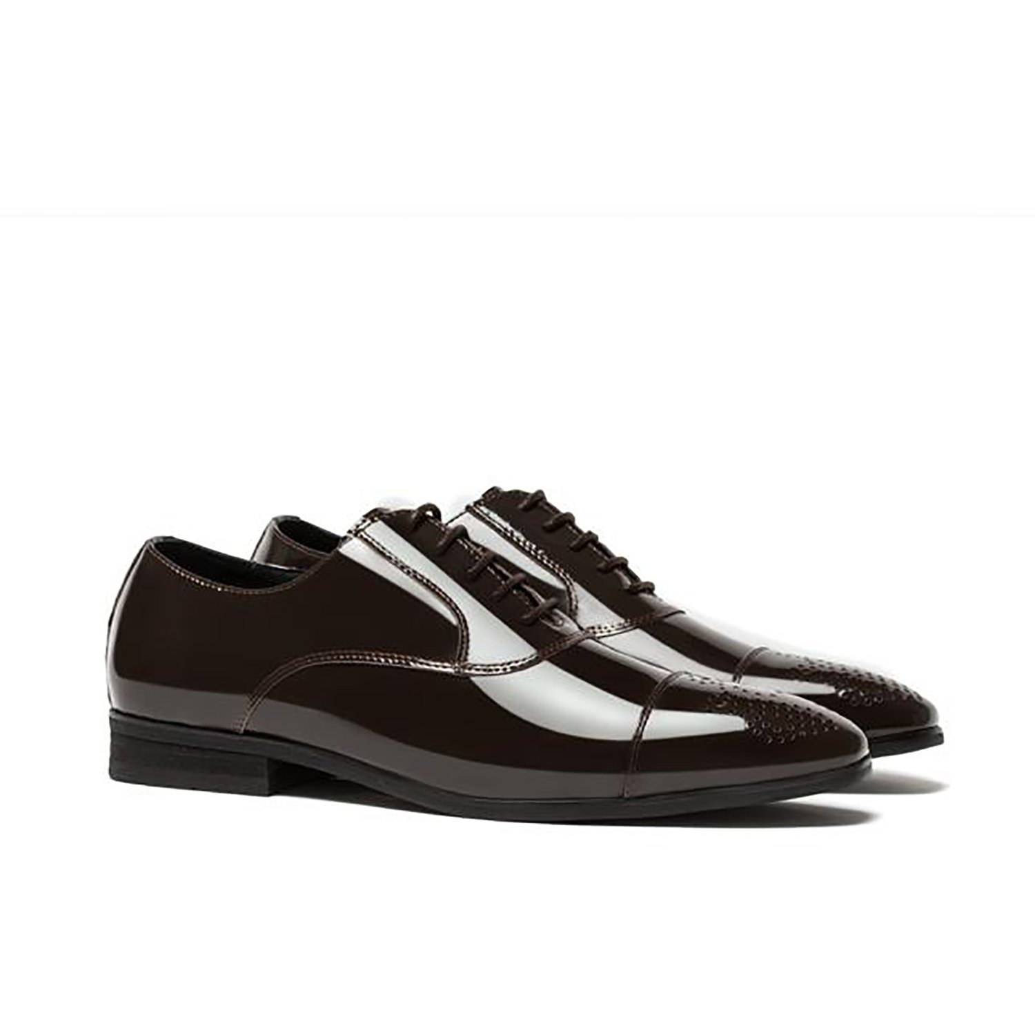 Opp Leather Dress Men Shoes Brown