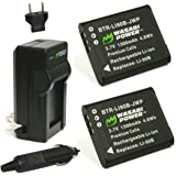 Wasabi Power DB-110 Battery (2-Pack) and Charger for Ricoh GR III, WG-6