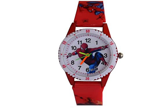 VITREND(R-TM)New Model Spiderman Analog Good Looking Round Dial Watch 01 for Boys&Girls(Sent As Per Available Colour)