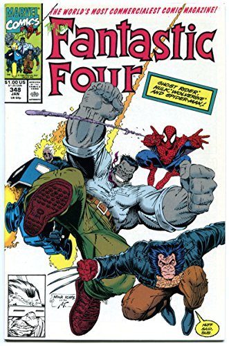 FANTASTIC FOUR #347 348 349, NM, Hulk, Wolverine, Spider-man, more FF in store