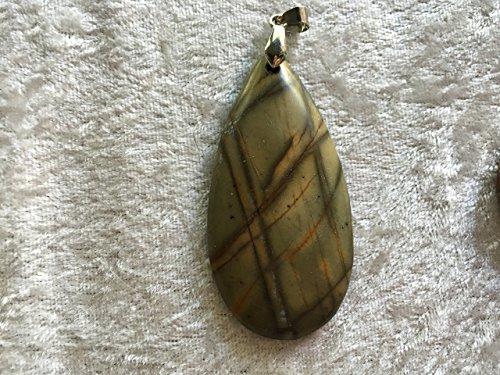 natural jasper gemstone carved teardrop pendant Jasper Teardrop Gemstone Pendant