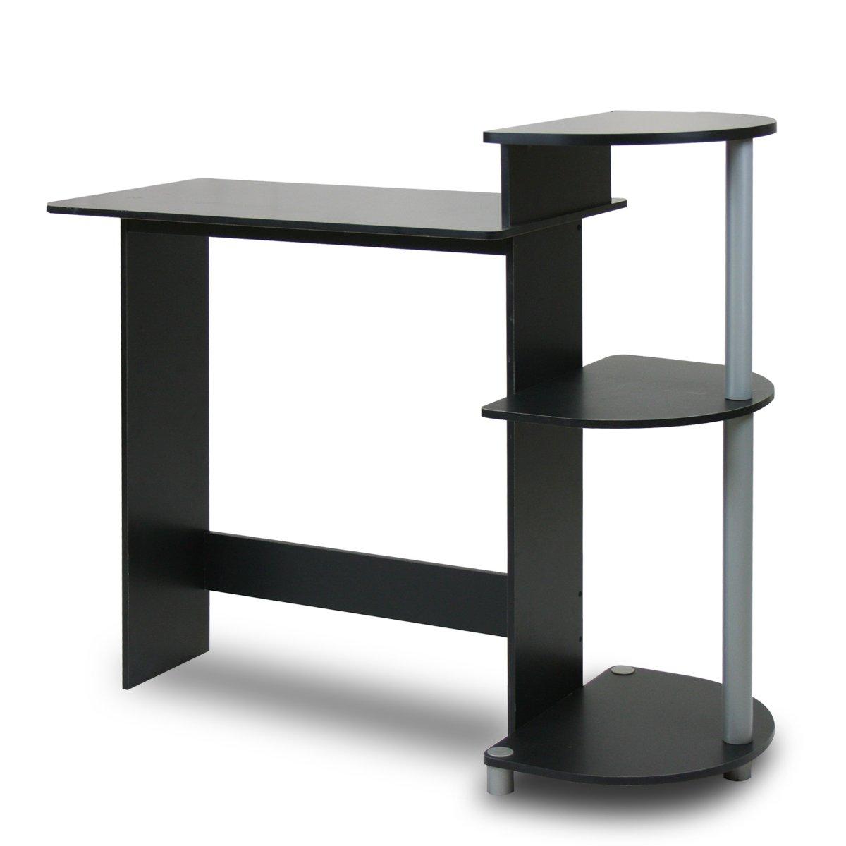 Furinno 11181BK/GY Compact Computer Desk, Black/Grey
