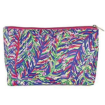 Mary Square Carryall Blue Frond Travel Pouch
