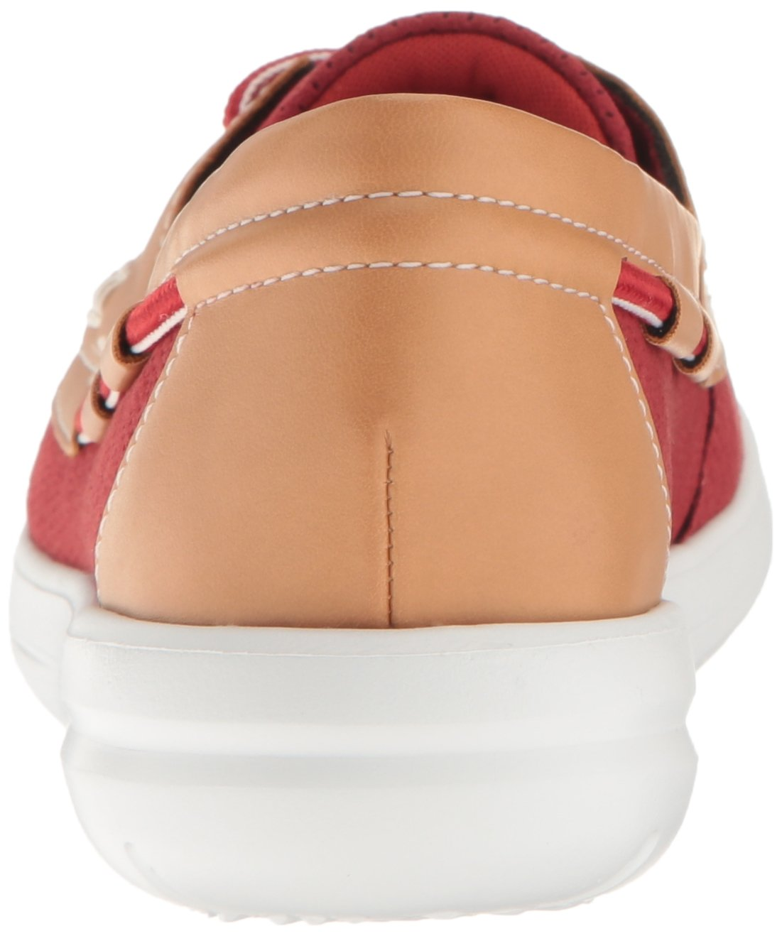 CLARKS Women's Jocolin Vista Boat Shoe, Red Perforated Microfiber, 12 B(M) US by CLARKS (Image #2)