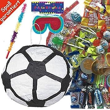 Piñata Juego: Máscara de fútbol * * con + + + 100 piezas ...