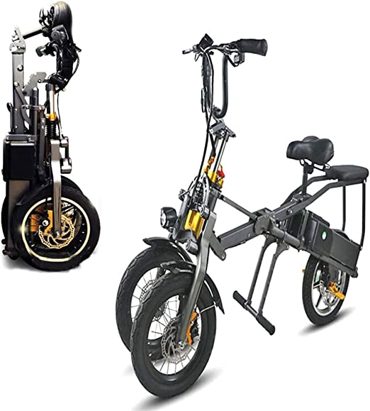 Joy-Beau Bicicleta eléctrica Plegable portátil de Tres Ruedas para ...