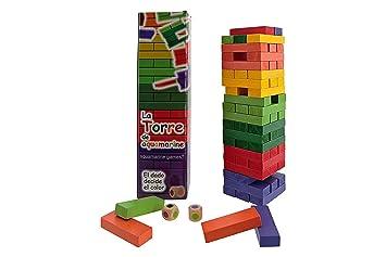 Outlletdelocio Torre Jenga De Colores Juego De Equilibrio En