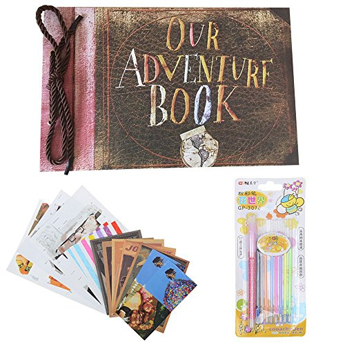 Our Adventure Book Photo Album DIY Scrapbook Album Retro Album Wedding Photo Album Anniversary Scrapbook