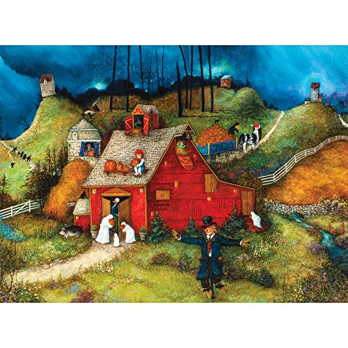 Bits and Pieces - 300 Piece Jigsaw Puzzle for Adults - Uncle Brucies Barn - 300 pc Halloween Pumpkin Jigsaw by Artist Linda Nelson Stocks