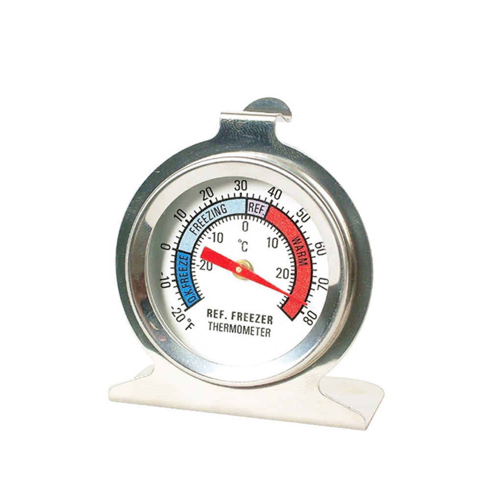 BESTOMZ Stainless Steel Large Dial Refrigerator Freezer Thermometer